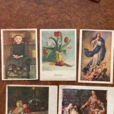 Postales: 5 POSTALES ARTIS MUTI 1960. Lote 269357693