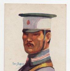 Postales: POSTAL MILITAR INFANTARIA JAPONESA ILUSTRADOR EMILE DUPUIS 1914 S/C. Lote 275077503