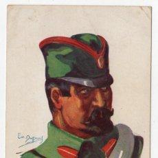 Postales: POSTAL MILITAR INFANTARIA SERBIA ILUSTRADOR EMILE DUPUIS 1914 S/C. Lote 275077563