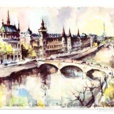 Postales: PARÍS (FRANCIA) - ACUARELA DE MARIUS GIRARD - SIN CIRCULAR. Lote 276805173