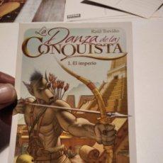 Postales: POSTAL COMIC LA DANZA DE LA CONQUISTA 1 EL IMPERIO. Lote 277200508
