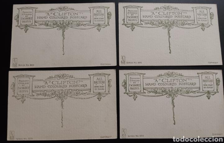 Postales: Colección 4 Postales antiguas A CLIFTON HAND COLOURED POSTCARD - Foto 2 - 277305118