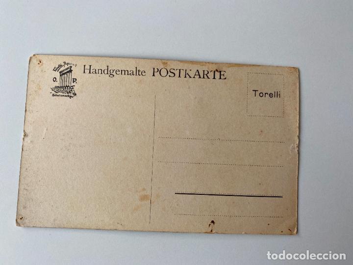 Postales: 10 POSTALES PINTADAS A MANO POR TORELLI , HANDGEMALTE POSTKARTE , GOUACHE ORIGINAL - Foto 5 - 277625053