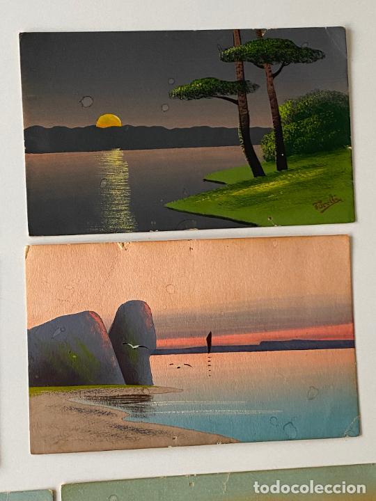 Postales: 10 POSTALES PINTADAS A MANO POR TORELLI , HANDGEMALTE POSTKARTE , GOUACHE ORIGINAL - Foto 2 - 277625298