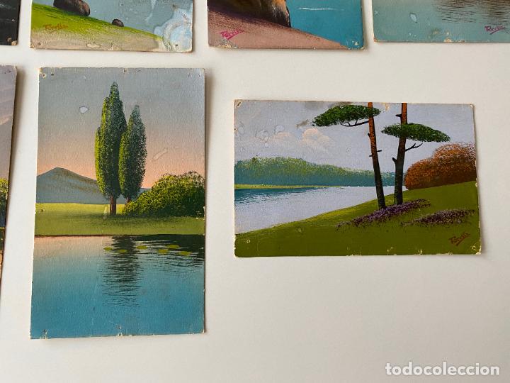 Postales: 12 POSTALES PINTADAS A MANO POR TORELLI , HANDGEMALTE POSTKARTE , GOUACHE ORIGINAL - Foto 4 - 277625693