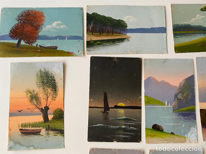 Postales: 12 POSTALES PINTADAS A MANO POR TORELLI , HANDGEMALTE POSTKARTE , GOUACHE ORIGINAL - Foto 7 - 277625693