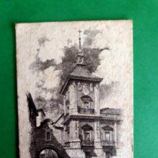 Postales: ANTIGUA POSTAL DIBUJO GRABADO MADRID ( PLAZA DE LA VILLA ). Lote 280309898