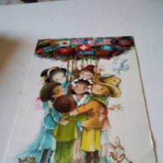 Cartoline: POSTAL FELICITACIÓN EL ÁRBOL DE LAS NACIONES, FERRÁNDIZ. Lote 283309718