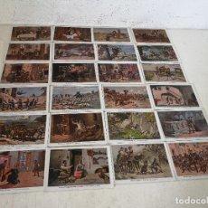 Postales: LOTE DE 24 POSTALES DE DON QUIJOTE DE LA MANCHA, ANTALBA, UNOS 15 X 11 CMS. Lote 287142278
