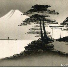 Postales: JAPÓN -MONTE FUJI- DIBUJO A TINTA ORIGINAL. Lote 287415243