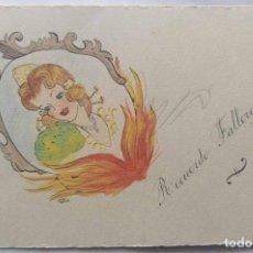 Postales: VALENCIA ILUSTRACIÓN ORIGINAL FIESTAS SAN JOSE FALLAS NYMA TAMAÑO 10,5 X 16 CM.. Lote 287876198