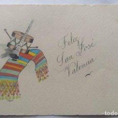 Postales: VALENCIA ILUSTRACIÓN ORIGINAL FIESTAS SAN JOSE FALLAS NYMA TAMAÑO 10,5 X 16 CM.. Lote 287876203