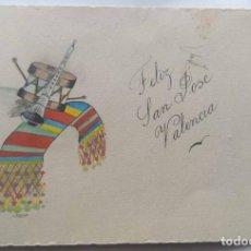 Postales: VALENCIA ILUSTRACIÓN ORIGINAL FIESTAS SAN JOSE FALLAS NYMA TAMAÑO 10,5 X 16 CM.. Lote 287876238