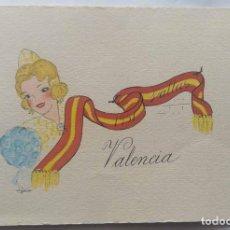 Postales: VALENCIA ILUSTRACIÓN ORIGINAL FIESTAS SAN JOSE FALLAS NYMA TAMAÑO 10,5 X 16 CM.. Lote 287876253