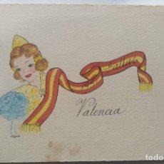 Postales: VALENCIA ILUSTRACIÓN ORIGINAL FIESTAS SAN JOSE FALLAS NYMA TAMAÑO 10,5 X 16 CM.. Lote 287876258