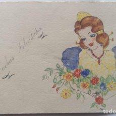 Postales: VALENCIA ILUSTRACIÓN ORIGINAL FIESTAS SAN JOSE FALLAS NYMA TAMAÑO 10,5 X 16 CM.. Lote 287876308