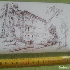 Postales: FACHADA EDIFICIO - BOCETO - DIBUJO - PLAZAS DE SAN LORENZO DEL ESCORIAL - F.BERNANDINO. Lote 288042813