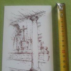 Postales: ENTRADA PLAZA DE LA CRUZ - BOCETO - DIBUJO - PLAZAS DE SAN LORENZO DEL ESCORIAL - F.BERNANDINO. Lote 288044308