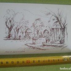 Postales: PLAZA DE JUAN DE VILLANUEVA - BOCETO - DIBUJO - PLAZAS DE SAN LORENZO DEL ESCORIAL - F.BERNANDINO. Lote 288044433