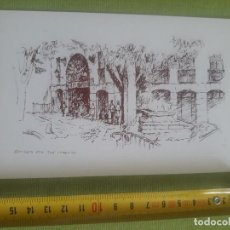 Postales: ENTRADA A LA PLAZA DE SAN LORENZO - BOCETO - DIBUJO - SAN LORENZO DEL ESCORIAL - F.BERNANDINO. Lote 288044638
