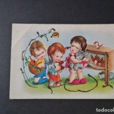Cartoline: LOTE AB 40-2000 POSTAL DIBUJOS NIÑOS PURPURINA ED PAJARITA 2336. Lote 289002118
