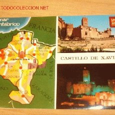 Postales: POSTAL DE CASTILLO DE JAVIER. AÑOS 60/70.. Lote 1804866