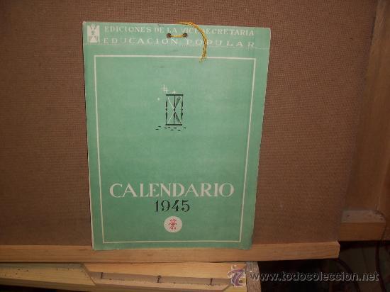 CALENDARIO - 1945 - 12 POSTALES ESPAÑA FALANGE (Postales - España - Sin Clasificar Moderna (desde 1.940))