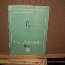 Postales: CALENDARIO - 1945 - 12 POSTALES ESPAÑA FALANGE. Lote 19796509