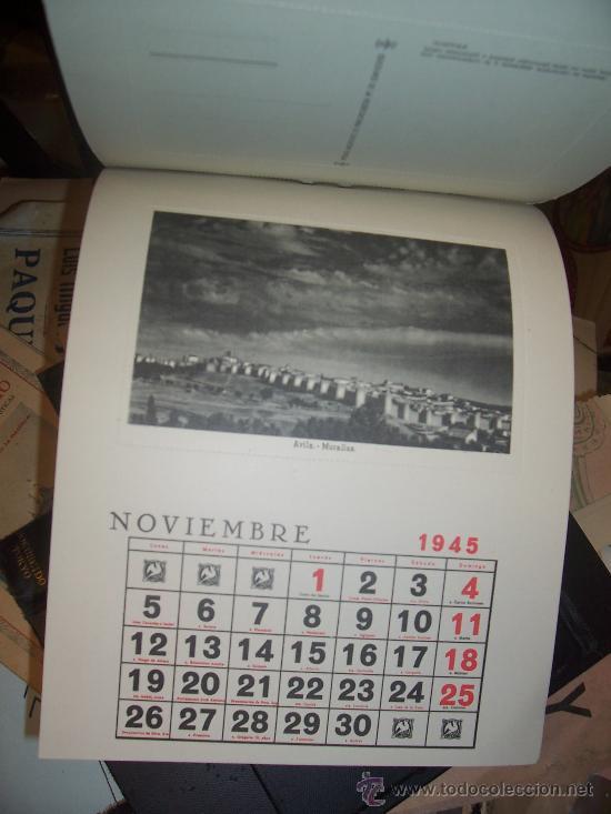 Postales: CALENDARIO - 1945 - 12 POSTALES ESPAÑA FALANGE - Foto 2 - 19796509