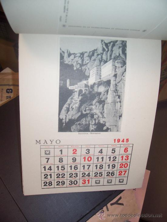 Postales: CALENDARIO - 1945 - 12 POSTALES ESPAÑA FALANGE - Foto 4 - 19796509
