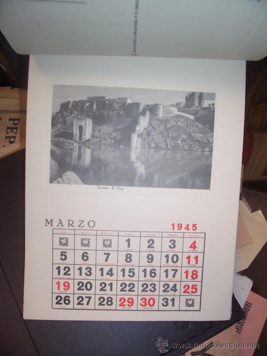 Postales: CALENDARIO - 1945 - 12 POSTALES ESPAÑA FALANGE - Foto 5 - 19796509
