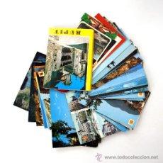 Postales: LOTE DE 63 POSTALES CIRCULADAS CON SELLOS FRANQUISTAS - AÑOS 1970. Lote 27322058