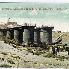Postales: ALMERIA. CUEVAS. HORNOS DE CALCINACIÓN DE LA S. M DE ALMAGRERA. HERRERIAS Nº8 FOT. F. DE BLAIN. . Lote 26726933