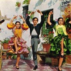 Postales: ESPAÑA TÍPICA 1763 ESTAMPA TÍPICA SAVIR ESCRITA CIRCULADA TRES SELLOS. Lote 27797572