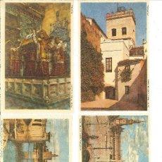 Postales: SEVILLA: ARCO Y TORREÓN DE JUDERÍA.-PLAZA DE ESPAÑA.-PUENTE DE SAN TELMO Y TORRE DEL ORO.-COLON. Lote 28182145