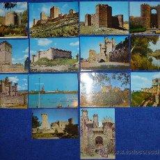 Postales: LOTE DE 14 POSTALES DE CASTILLOS DE ESPAÑA. Lote 43171097