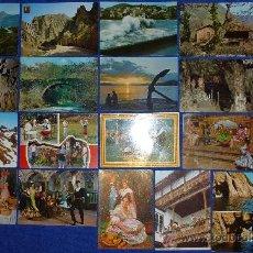 Postales: LOTE DE 20 POSTALES DE TURISMO DE REGIONES DE ESPAÑA. Lote 30060201
