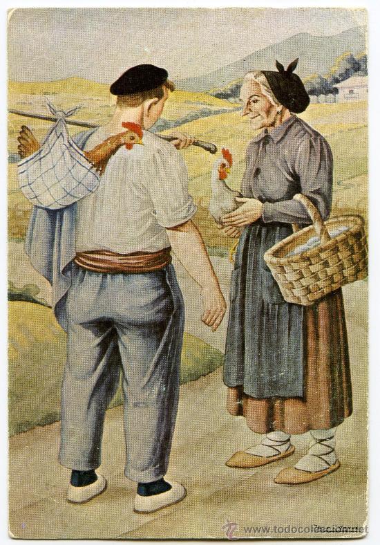 POSTAL PAIS VASCO JOSE ARRUE VALLE LA COMPRA EROSTERA (Postales - España - Sin Clasificar Moderna (desde 1.940))