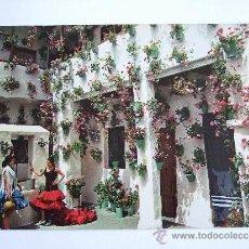 Postales: POSTAL PATIO TIPICO ANDALUZ CON DOS FLAMENCAS JUNTO A UN POZO - SIN CIRCULAR -SAVIR BARCELONA. Lote 30866042