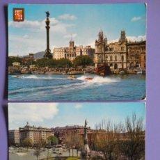 Postales: POSTALES DE MONUMENTOS A COLÓN DE MADRID Y BARCELONA, AÑOS 60. Lote 31575964