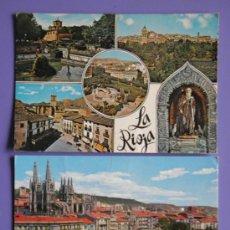 Postales: POSTALES DE LA RIOJA Y DE BURGOS, AÑOS 60. Lote 31575988