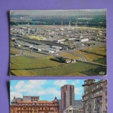Postales: POSTALES DE REFLETS DU BEARN DE LACQ, FRANCIA, Y DE PLAZA DEL GENERALÍSIMO DE OVIEDO, AÑOS 60. Lote 31576006