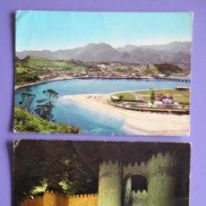 Postales: POSTALES DE RIBADESELLA Y DE PUERTA DE SAN VICENTE DE ÁVILA, AÑOS 60. Lote 31576008