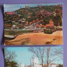 Postales: POSTALES DE VISTA AÉREA DEL SARDINERO DE SANTANDER Y GRAN CASINO DE SANTANDER, AÑOS 60. Lote 31576027