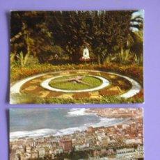 Postales: POSTALES DE RELOJ FLORAL DE LA CORUÑA Y DE LA CORUÑA, AÑOS 60. Lote 31576095