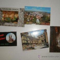 Postales: POSTALES. ACORDEONES DE SANTIAGO, BARCELONA, MOJÁCAR Y CUEVAS DEL DRACH. Lote 32219891
