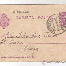 Postales: TARJETA POSTAL ALFONSO XIII - CIRCULADA EL 15 MAYO 1930. Lote 33001497