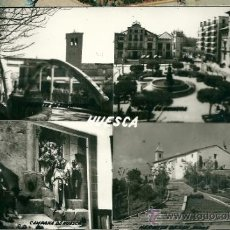 Postales: POSTAL HUESCA, VISTAS, ED. SICILIA, SIN CIRCULAR. Lote 34739589