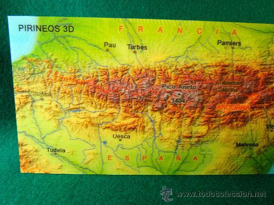 Postales: MAPA 3D EN POSTAL - HOLOGRAFICA -SIN USAR-TODO EL PIRINEO DESDE IRUN-PORT BOU -10X21 CM. - AÑO 2004. - Foto 2 - 36812681
