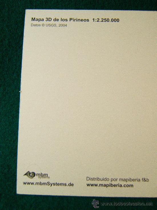 Postales: MAPA 3D EN POSTAL - HOLOGRAFICA -SIN USAR-TODO EL PIRINEO DESDE IRUN-PORT BOU -10X21 CM. - AÑO 2004. - Foto 3 - 36812681